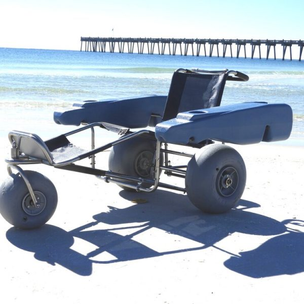 ez-roller-floating-wheelchair with pontoms